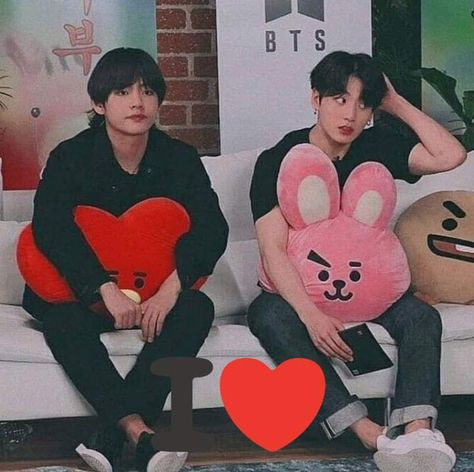 When all the other members are on the other couch and -vkook are like we don't know them
