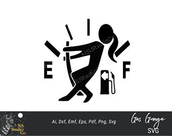 Girl Empty Full Gas Fuel Gauge Vinyl Decal Sticker for Tank Cap Jeep Dodge Ford