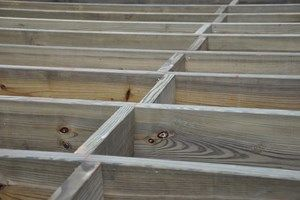 Reinforcing Deck Rim Or Band Joists Building A Deck Building A Deck Frame Deck Framing