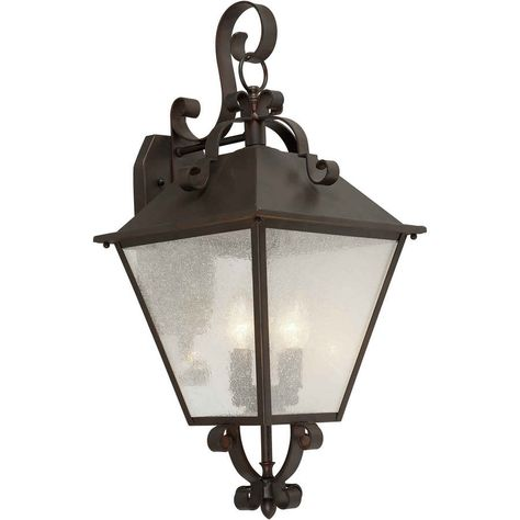 25 In H Antique Bronze Outdoor Wall Light