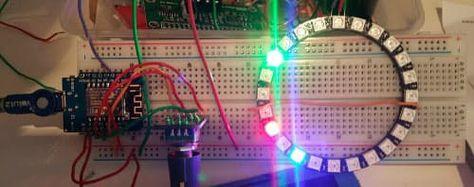 ESP8266 Neopixel Ring Clock | ESP32 | Ring clock, Clock, Rings
