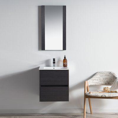 Orren Ellis Oquendo 48 Wall Mounted Double Bathroom Vanity
