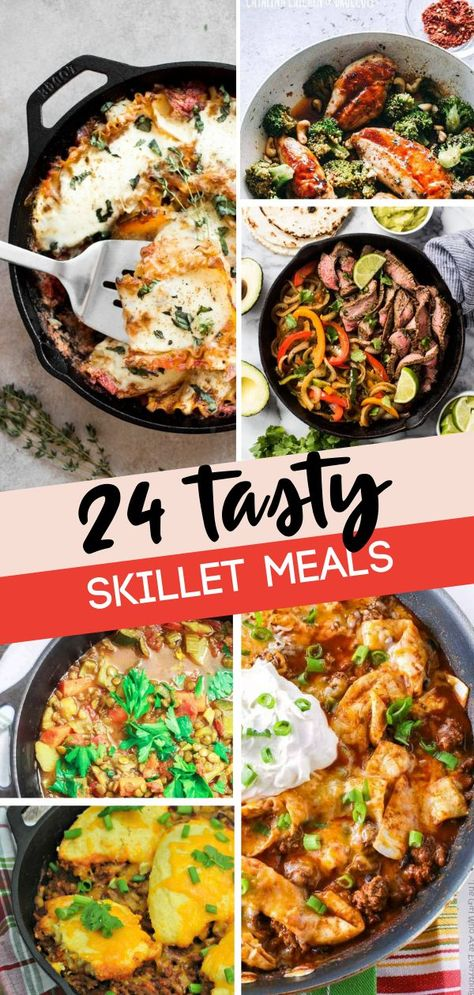 Simple, easy to clean up Ridiculously Tasty Skillet Meals your family is going to love! These are the perfect family recipes for beginners which include healthy one skillet meals, breakfast skillet recipes, and many more! Save this easy awesome recipes! Pesto Mozzarella, Electric Skillet Recipes, Easy Skillet Meals, Breakfast Skillet, Paleo Breakfast, Family Meals, Family Recipes, Recipes For One, Cast Iron Recipes