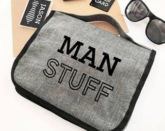 Gift Holiday Fun Novelty Toiletries Men/'s Beard Stuff Canvas accessory Bag