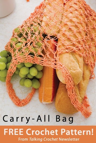 Carry-All Bag Download from Talking Crochet newsletter. Click on the photo to access the free pattern. Sign up for this free newsletter here: AnniesNewsletters.com.