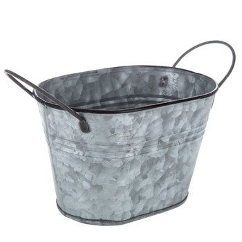 Oval Galvanized Metal Container Metal Containers Galvanized Metal Metal Bucket