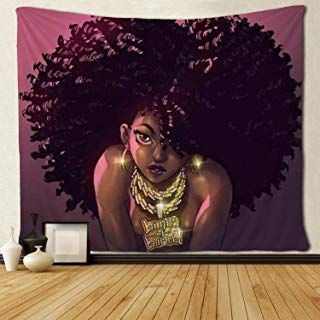Sara Nell Tapestry African American Women Art Tapestries Wall Art Hippie Bedroom Living Room Dorm Wa African American Art Women African Wall Art Black Wall Art
