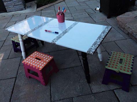 Table Pour Ateliers Mactac Rona Et Ruban Decoratif Idee Pour La Classe Table Idee