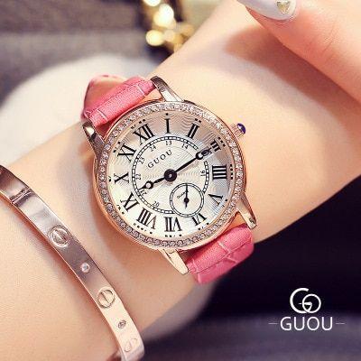 Guou Brand Watch Women Classic Vintage Watches Roman Scale Quartz Watch Bayan Saatleri Women Bayan Brand Classic Guou Q Bayan Saatleri Watches Kadin