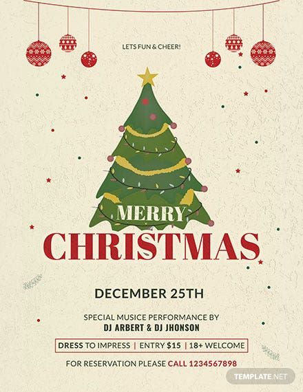 Free Simple Christmas Poster Template Psd Apple Mac Pages In 2020 Free Christmas Flyer Templates Christmas Poster Christmas Templates