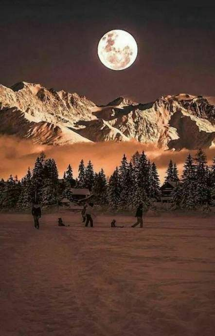 Beautiful Moon By Yasmin On Montain In 2020 Beautiful Nature Landscape Photography
