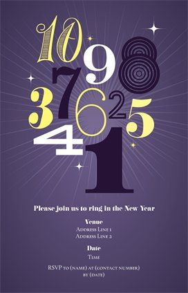 New Year Invitations Announcements Templates Designs Page 2 Vistaprint Custom Invitations Personalized Invitations Vistaprint