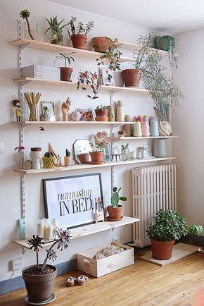 Decorer Avec Les Plantes Etagere Salon Deco Maison Et Etagere Deco