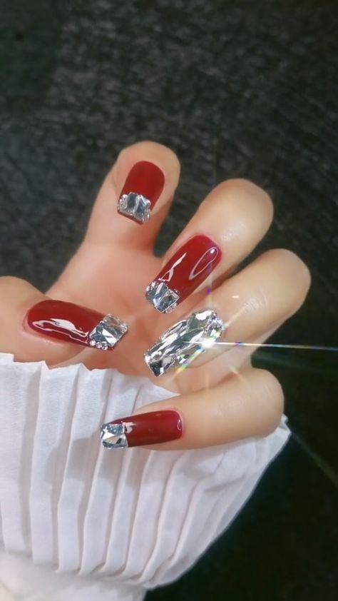 DIY Nails | Hot Red Nail Art Design