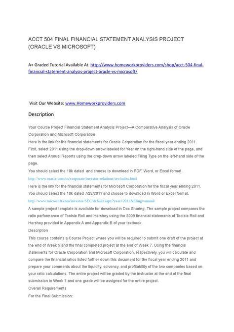 ACCT 504 FINAL FINANCIAL STATEMENT ANALYSIS PROJECT ACCT 504 - statement analysis template