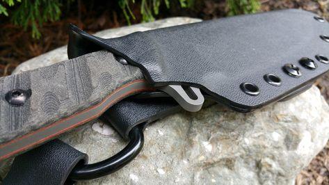 CUSTOM Kydex sheath for the BUCK THUG Leather Dangler and firesteel holder