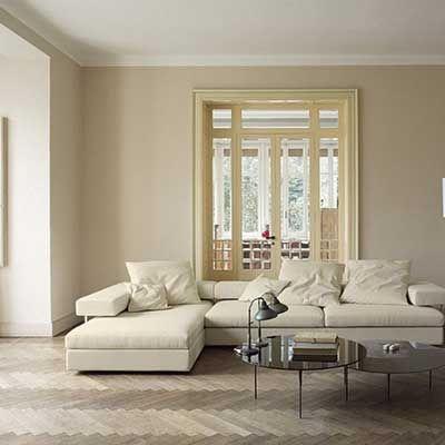 Luletasi Rengi Duvar Boyasi Uygulama Ornekleri Evde Mimar Bej Oturma Odalari Oturma Odasi Tasarimlari Oturma Odasi Dekorasyonu