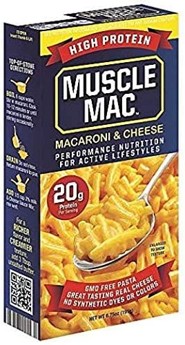 Amazon Com Muscle Mac Macaroni And Cheese Pasta For All Ages 20 Grams Of High Protein Per Serving Real Cheese Non Gmo 2 Macaroni Cheese Real Cheese Food
