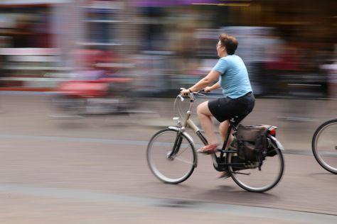 Panning van camera - fietser