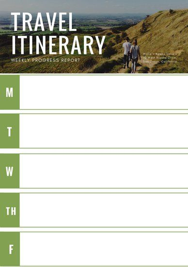 Green Photo Travel Itinerary Planner With Images Travel