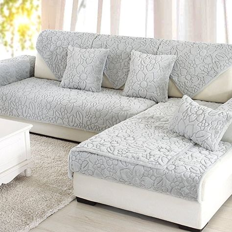 Sofa Furniture Protector For Pet Dog Sofa Slipcover Solid Color Thicken Sofa Throw Covers Anti Slip Waterproof C Slipcovered Sofa Sofa Throw Cover Sofa Covers
