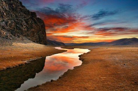 Le désert de Gobi, Mongolie