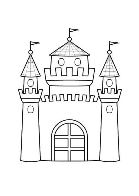 Prinzessin Prinzessinnenschloss Ausmalen Zum Ausmalen