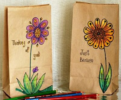 51 Creative Paper Bag Craft Ideas Paper Bag Crafts Paper Crafts