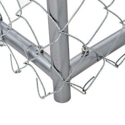 Lucky Dog 10 X 10 X 6 Heavy Duty Outdoor Chain Link Dog Kennel Enclosure Chain Link Dog Kennel Dog Kennel Dog Kennel Outdoor