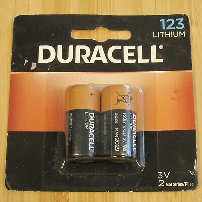 Ad Ebay Link Duracell 123 Lithium 3 Volt Battery 2 Pack Exp 03 29 Cr123a Cr17345 Dl123a Cr123 In 2020 Duracell Ebay Power