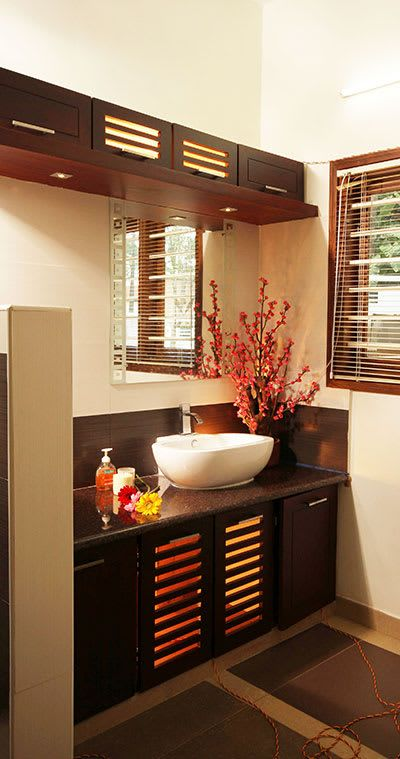 Anaz Stanzza Modern Bathroom Homify Washbasin Design Crockery Cabinet Design Crockery Unit Design Modern dining room washbasin cabinet