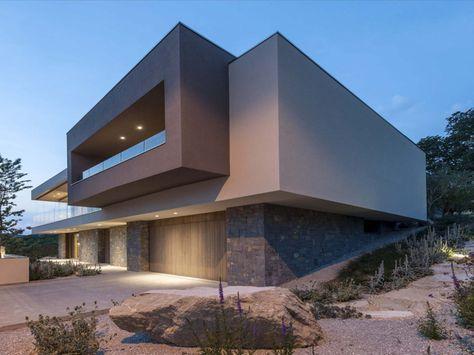 Modernes haus mit Steingarten #casasmodernasinteriores Dream beach