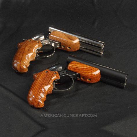Diablo 12 Gauge Pistols, Nickel and Blued Finish Collectors