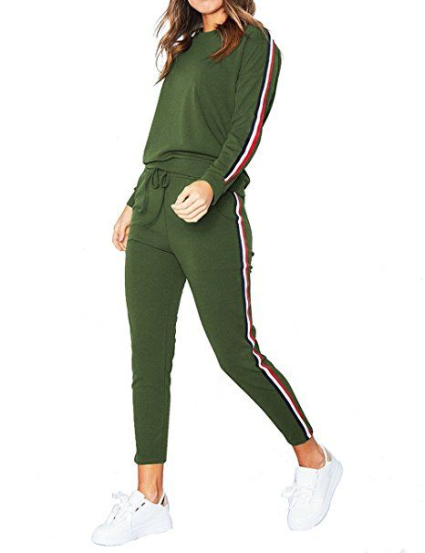 Damen Trainingsanzug Hausanzug Sweatshirt Lang Hose Jogginganzug Fitness Suit