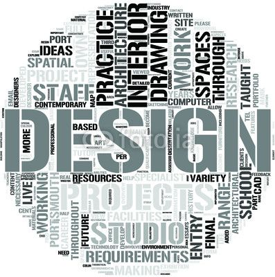 Interior Design Word Cloud Concept Architecture Mapping Vector Art Illustration Word Cloud