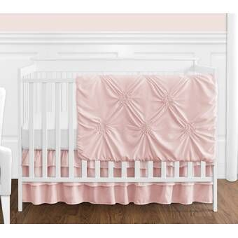 Watercolor Floral 4 Piece Crib Bedding Set Crib Bedding Girl Pink Crib Bedding Baby Girl Crib Bedding Sets