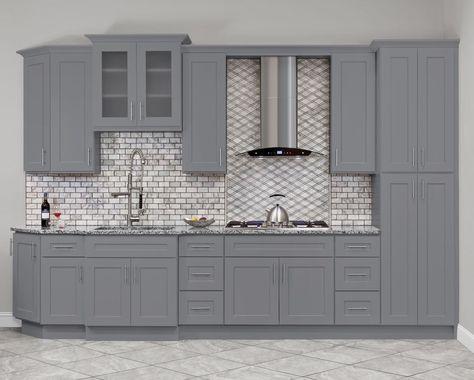 Hartford Grey Kitchen Cabinets - RTA Cabinet Store