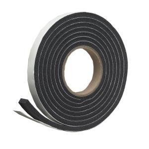 Frost King E O 3 4 In X 7 16 In X 10 Ft Black High Density Rubber Foam Weatherstrip Tape R734h The Home Depot In 2020 Weather Stripping Foam Tape Foam