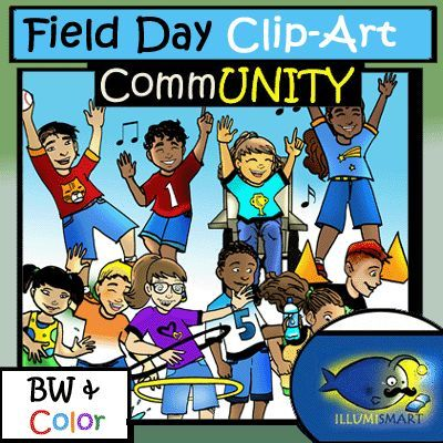 End Of Year Clip Art Perfect For A Variety Of Themes Including Field Day Field Trip Recess Gym And More Clip Art Field Day Stylized Illustration