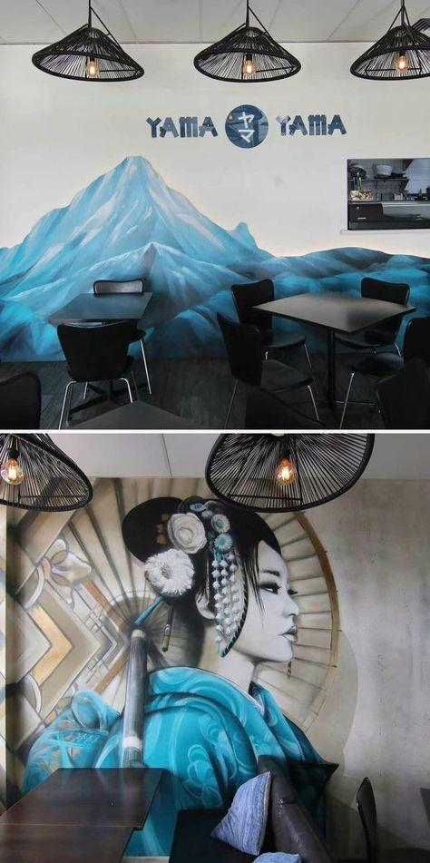 Murals - Geisha with Granite