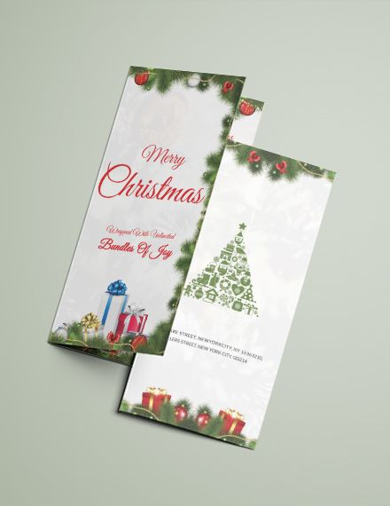 Merry Christmas Tri Fold Brochure Template Word Psd Apple Pages Publisher Greeting Card Template Trifold Brochure Template Card Templates