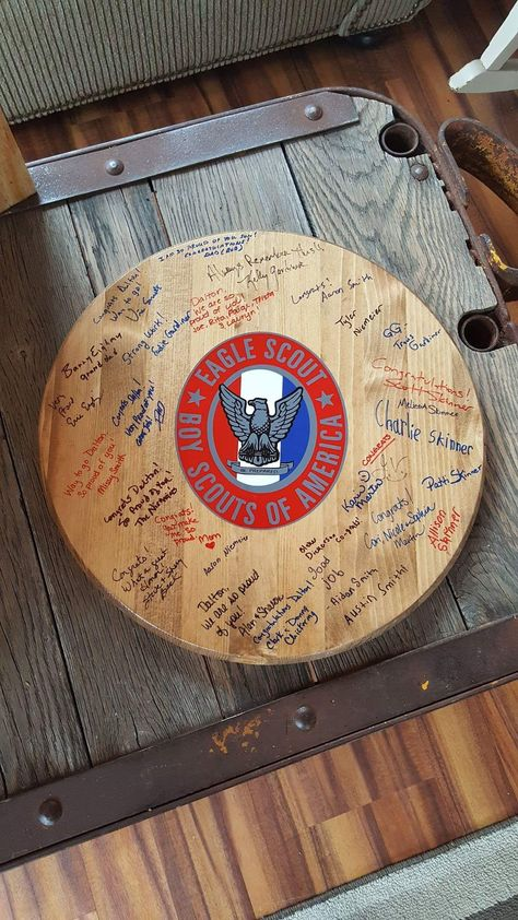 Eagle Scout guest book/board for Eagle Scout Court of Honor  Pied Piper's Redesigns