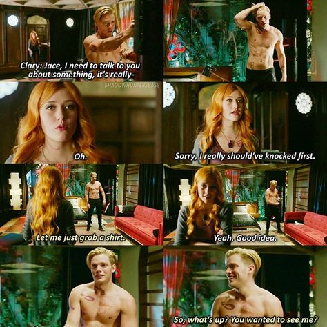 "#Shadowhunters 1x04 ""Raising Hell"" - Clary and Jace"