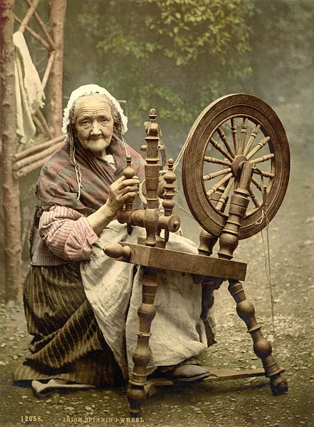 Habetrot is the Celtic Goddess of Spinning and Healing. She is able to spin wool into garments in an instant, and the clothes that she makes give the wearer immunity from all disease. In fairy tales, she is depicted with an extended lower lip, which she got from wetting the wool as she spun it.