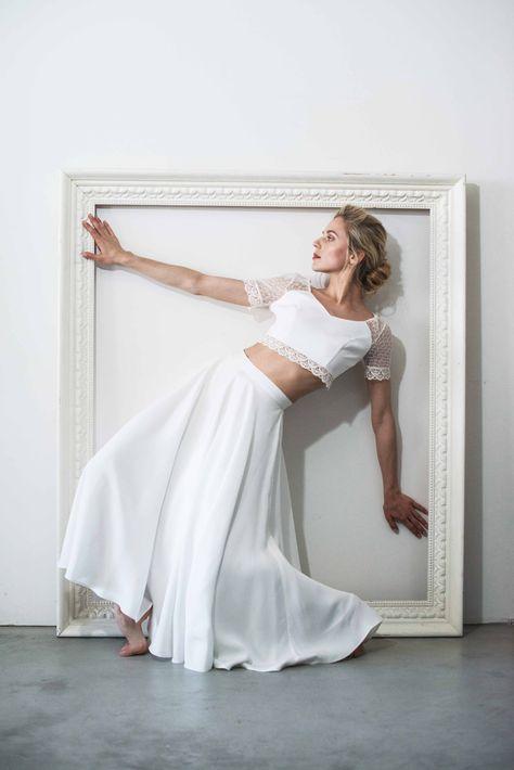 #Robes de #Mariée : Top Clara - Jupe Élia ! #Collection2018 #MademoiselleDeGuise #mariage #wedding #weddingdress #dress !