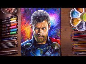 Drawing Thor Thor Ragnarok Chris Hemsworth Drawholic Youtube