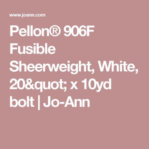 Pellon 906f Fusible Sheerweight Interfacing 20 X10 Yds White