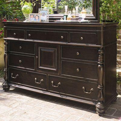 Steel Magnolia 9 Drawer Combo Dresser