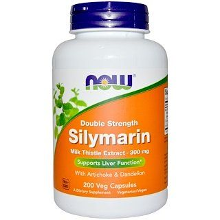 Now Foods Double Strength Silymarin 300 Mg 200 Veg Capsules Milk Thistle Extract Milk Thistle Now Foods