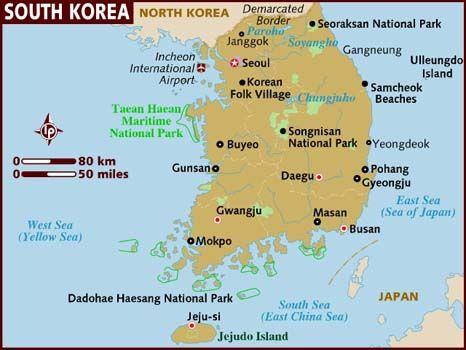 Of korea map busan south US Military